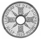 ½ Penny - George V (Trial Strike) – reverse