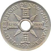 1 Penny - George V – reverse