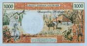 1,000 Francs – reverse