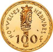 100 Francs (Piedfort gold) – reverse