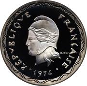 100 Francs (Piedfort silver) – obverse