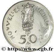 50 francs (IEOM essai) – reverse