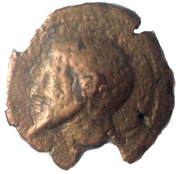 Quadrans - Syphax (Western Numidia; pointing beard, horseman right) – obverse