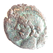 As - Massinissa or Micipsa (with punic letters) – obverse