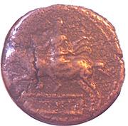 Semis - Syphax (Western Numidia; small beard, horseman left) – reverse