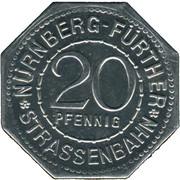 20 Pfennig - Peter Henlein (Nürnberg-Fürth) -  obverse