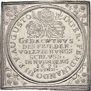 ½ Thaler (Klippe; Peace of Westphalia) – obverse