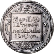 ½ Thaler (Reformation) – reverse