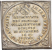 ¼ Thaler (Klippe; Peace of Westphalia) – obverse