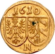 1 Pfennig (Gold pattern strike) – obverse