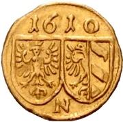 1 Pfennig (Gold pattern strike) – reverse