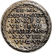 Medal - Death of Albrecht Dürer (Nürnberg) – reverse