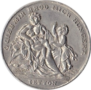 Medal at the 1816/1817 famine – obverse