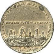 Medal - Flood of Nuremberg 1784 – reverse