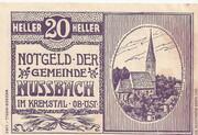 20 Heller (Nussbach im Kremstal) – obverse