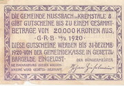 20 Heller (Nussbach im Kremstal) – reverse