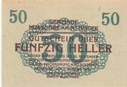 50 Heller (Nussdorf am Attersee) -  reverse