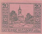 20 Heller (Nussdorf am Attersee) -  obverse