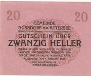 20 Heller (Nussdorf am Attersee) -  reverse