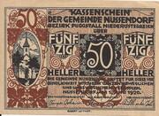 50 Heller (Nussendorf-Artstetten) -  obverse