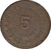 5 Centavos (Provisional Government) – reverse