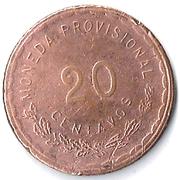 20 Centavos (Provisional Government) – reverse