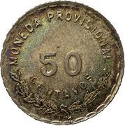 50 Centavos (Provisional Government) – reverse