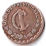 1 Centavo (Provisional Government) – reverse