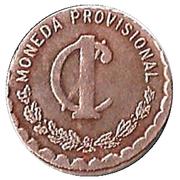 1 Centavo (Provisional Government) – reverse