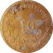 10 Centavos (Provisional Government) – reverse