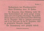 10 Heller (Ober-Wölbling) -  reverse