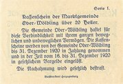 20 Heller (Ober-Wölbling) -  reverse