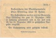 50 Heller (Ober-Wölbling) -  reverse