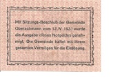 10 Heller (Oberachmann) – reverse