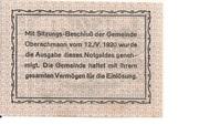 50 Heller (Oberachmann) – reverse