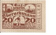 20 Heller (Oberachmann) – obverse