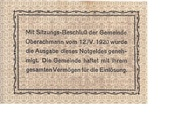 20 Heller (Oberachmann) – reverse