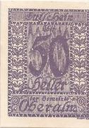 50 Heller (Oberalm) – obverse