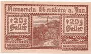 20 Heller (Obernberg am Inn - Rennverein) -  obverse