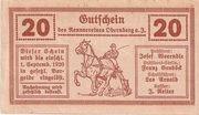 20 Heller (Obernberg am Inn - Rennverein) -  reverse