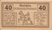 40 Heller (Obernberg am Inn - Rennverein) -  reverse
