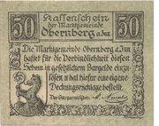50 Heller (Obernberg am Inn) -  obverse