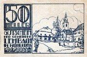 50 Heller (Lembach im Mühlkreis; Blue issue) -  reverse