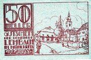 50 Heller (Lembach im Mühlkreis; Red issue) -  reverse