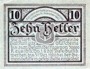 10 Heller (Hallstatt) -  reverse