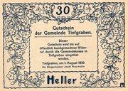 30 Heller (Tiefgraben) -  obverse