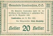20 Heller (Lambrechten) -  reverse