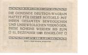 20 Heller (Deutsch-Wagram) -  reverse
