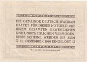 50 Heller (Deutsch-Wagram) -  reverse