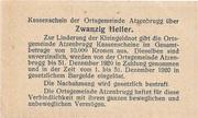 20 Heller (Atzenbrugg) -  reverse
